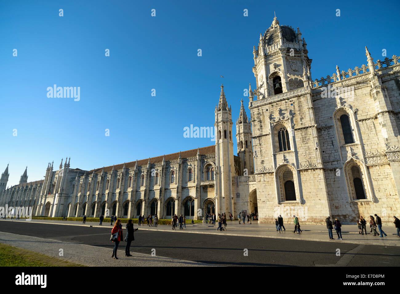 Jeronimos Monastery, Belem, Lisbon - Stock Image