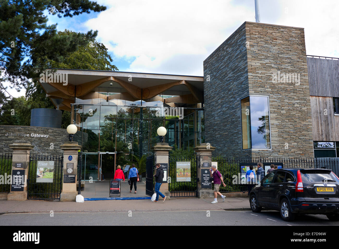 John Hope Gateway. West Gate. Royal Botanic Garden Edinburgh - Stock Image