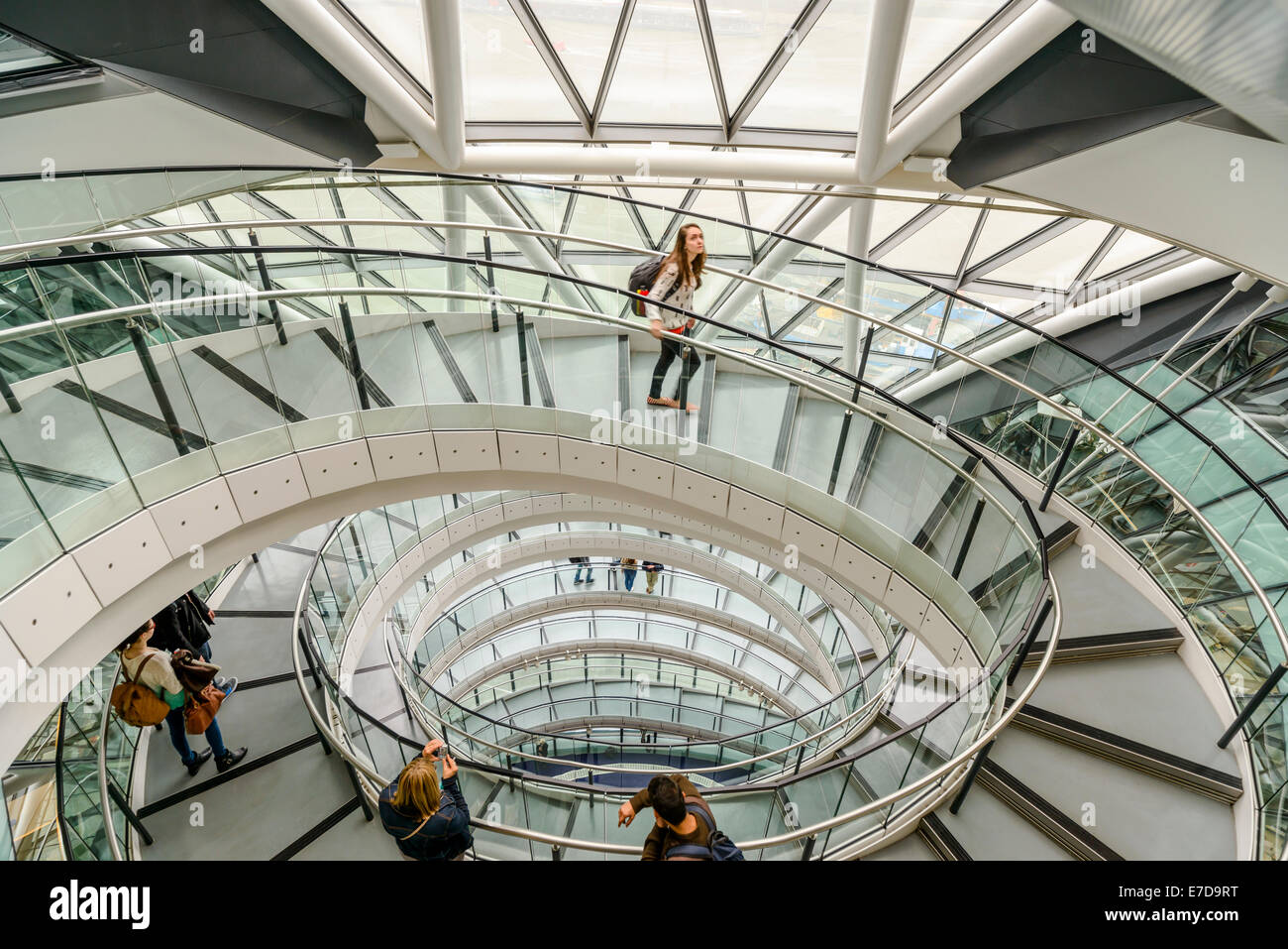 London City Hall Interior During Open House Weekend, Southwark, London - Stock Image