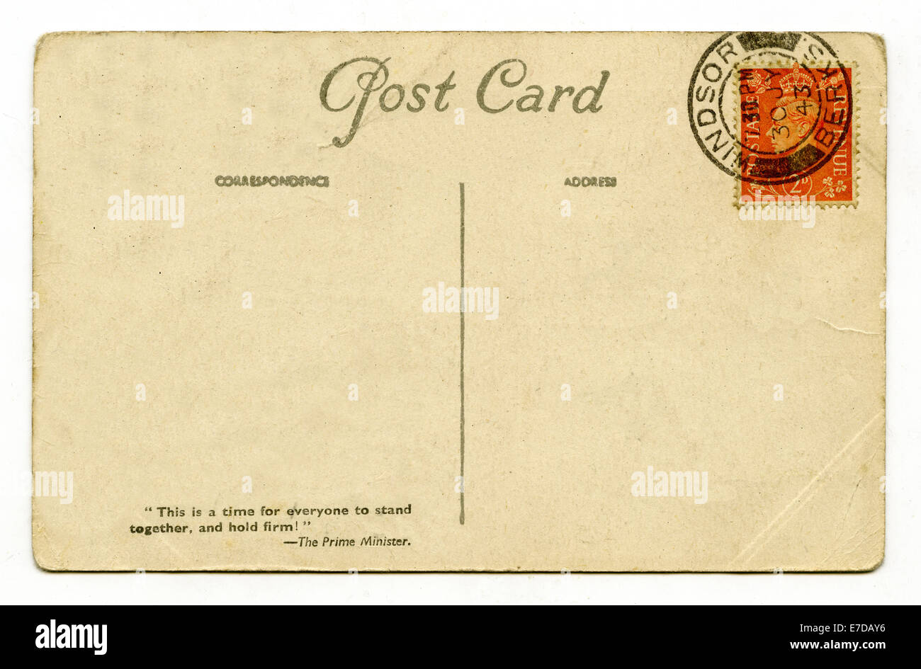 a vintage postcard over a plain white background