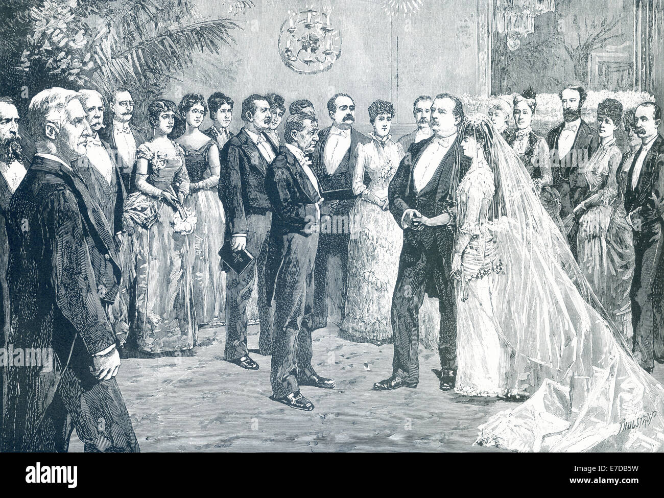 President Stephen Grover Cleveland Married Frances Folsom In The Blue Stock Photo Alamy