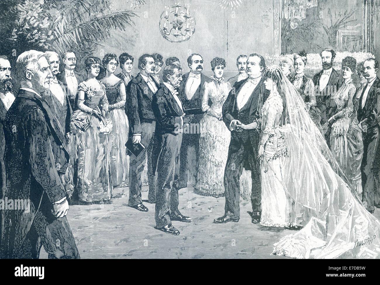 President Stephen Grover Cleveland Married Frances Folsom In