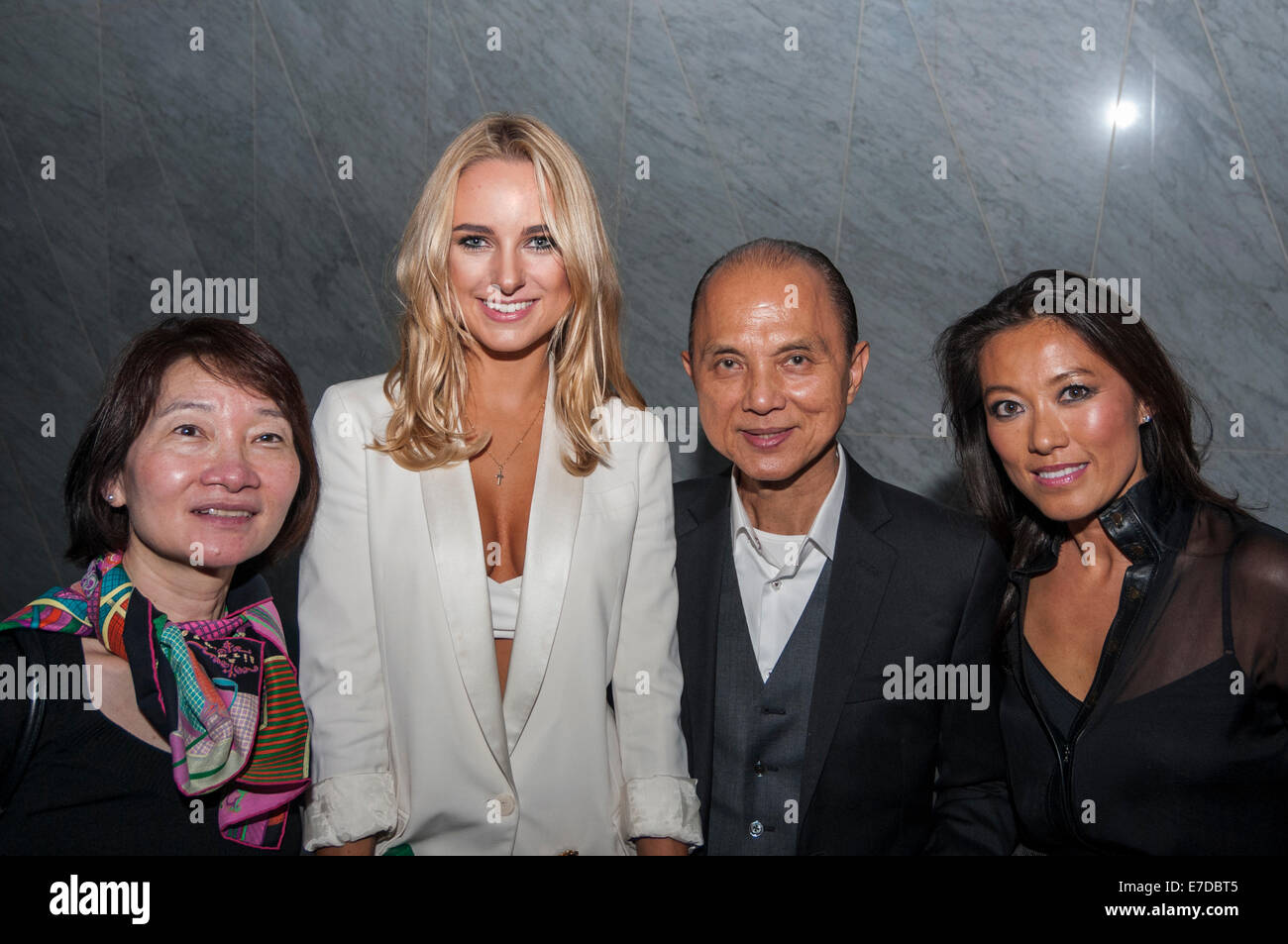 London, UK, 14 September 2014.  At the Vielma show, in collaboration with Lucy Choi London, during London Fashion - Stock Image