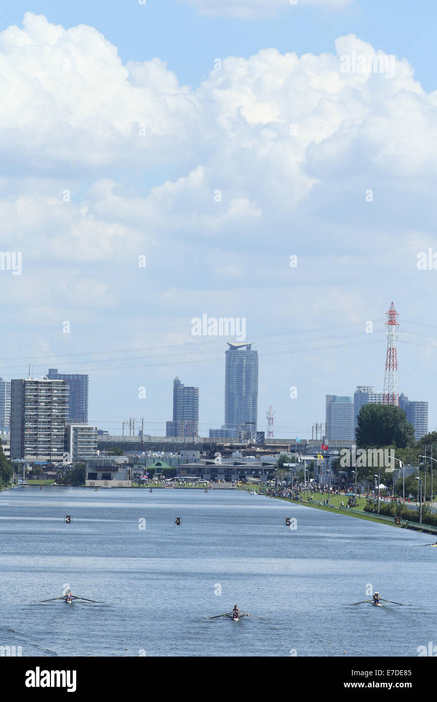 General View of Toda Olympic Rowing Course SEPTEMBER 14, 2014 - Rowing : The 92nd All Japan Rowing Championships - Stock Image