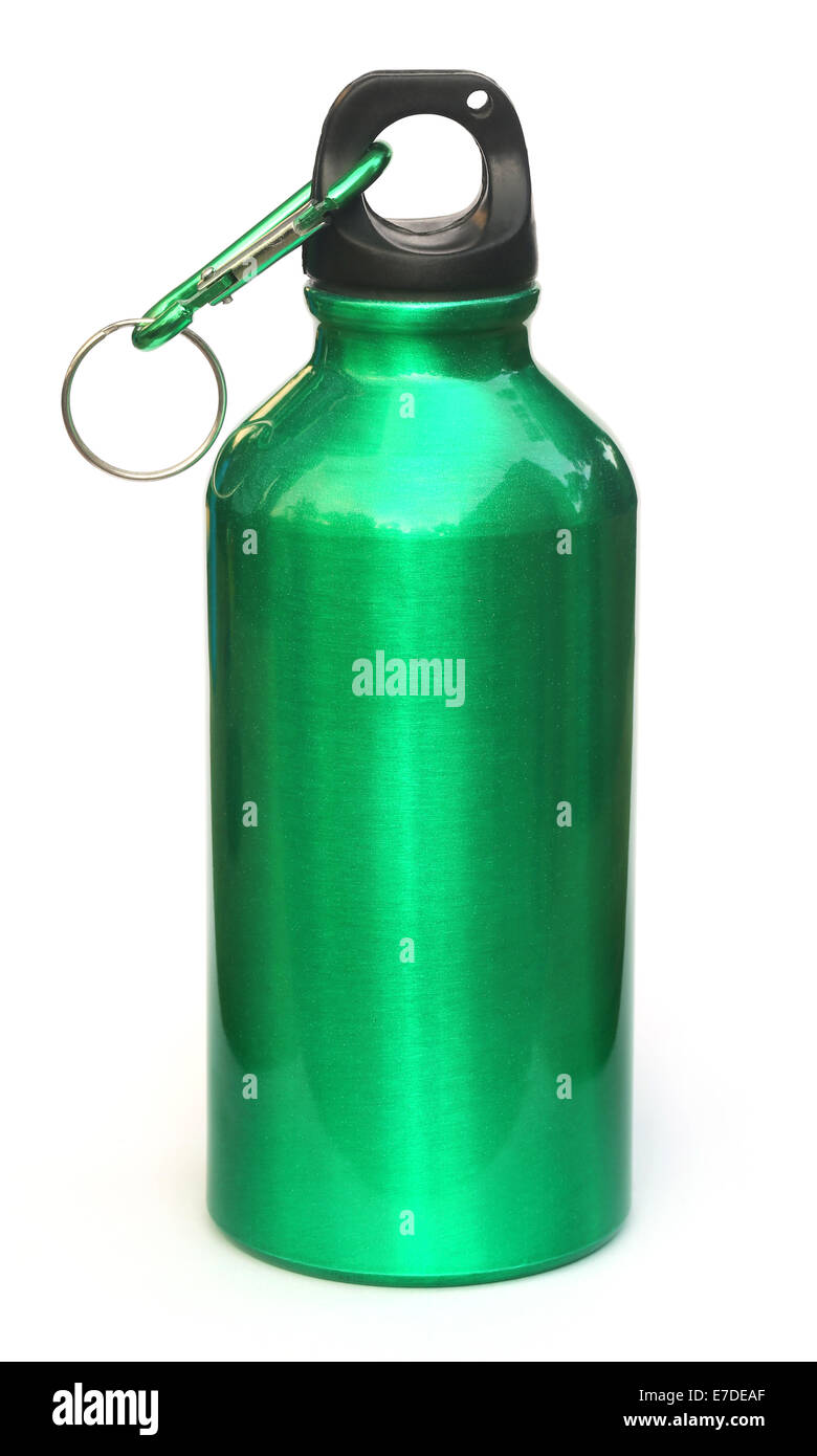 Water bottle over white background - Stock Image