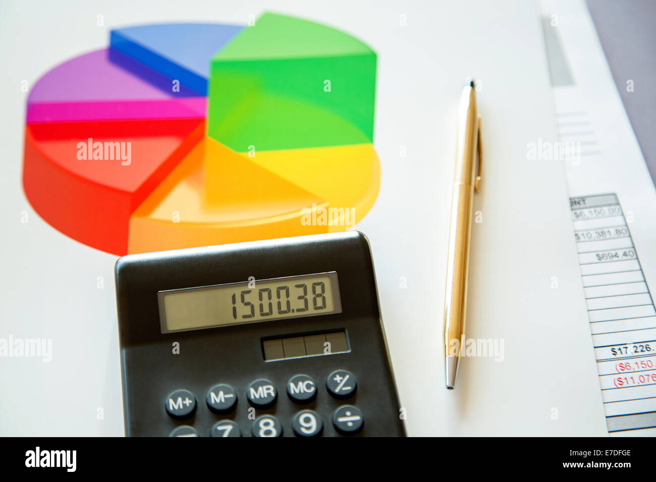 Diversified investments - Stock Image