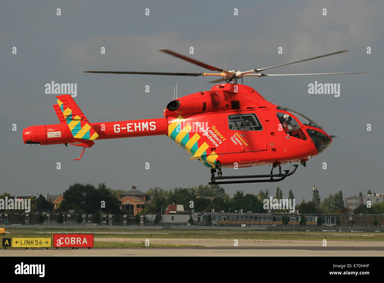 MD902 EXPLORER AIR AMBULANCE LONDON - Stock Image