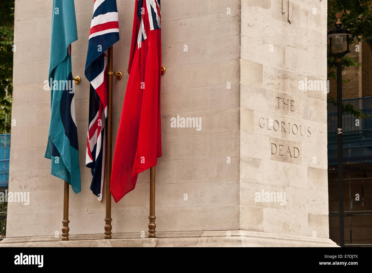 London Cenotaph to The Glorious Dead - Stock Image