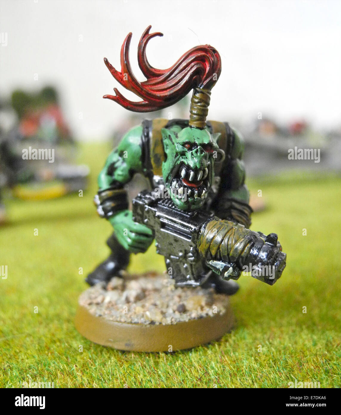 Warhammer is a tabletop wargame where two or more players compete