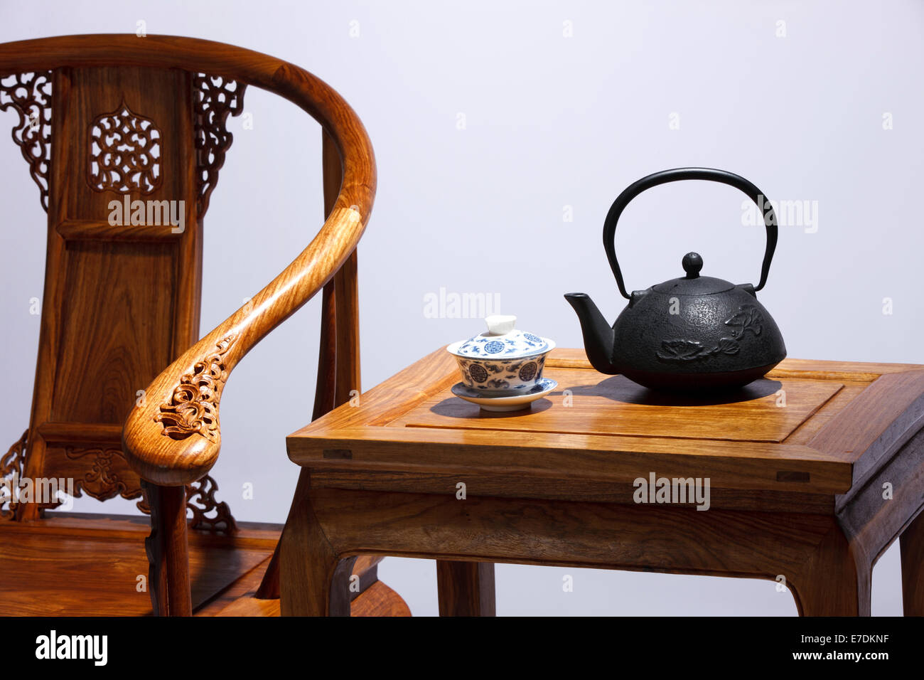 Close Up Of Chinese Traditional Chair   Stock Image