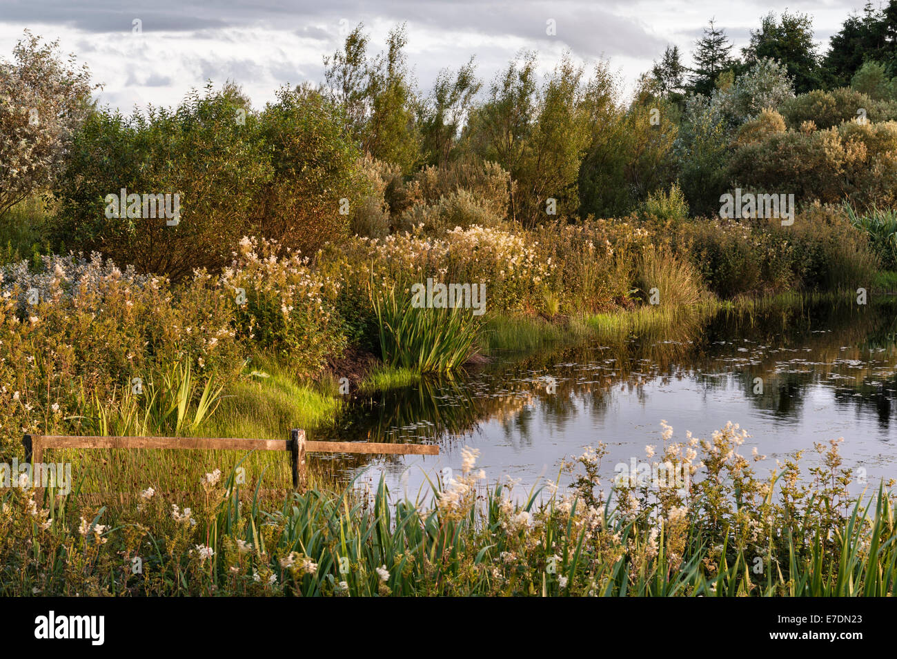 Little Sparta, Scotland. The garden created by the artist Ian Hamilton Finlay in the Pentland Hills. A corner of - Stock Image