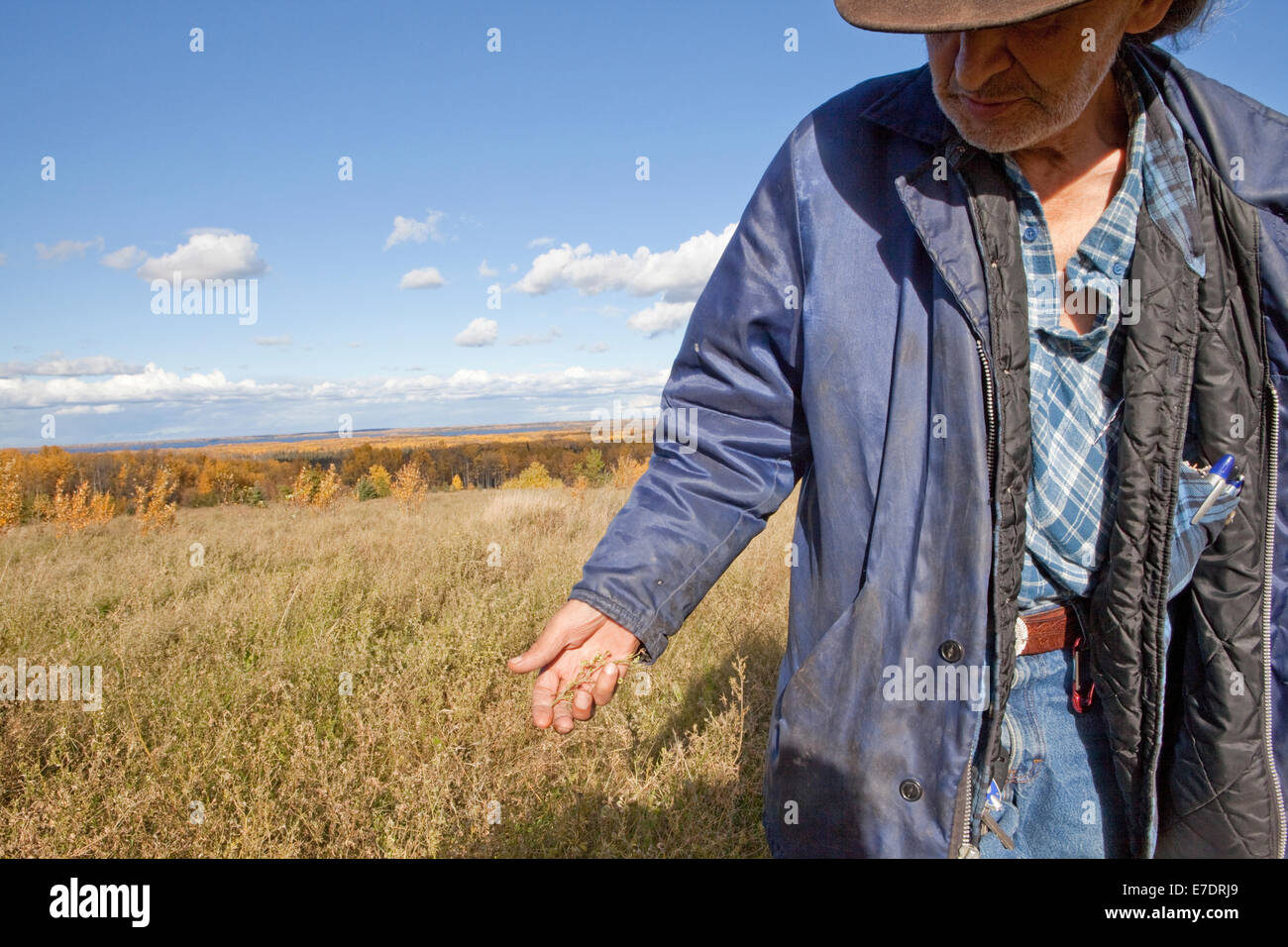 First Nations land reclamation Tar sands Oil sands Alberta Canada - Stock Image
