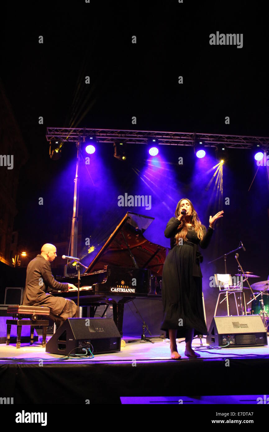 Rome, Italy 13th September 2014 The Israeli group The Idan Raichel Project playing at the Kabbalah celebration in - Stock Image