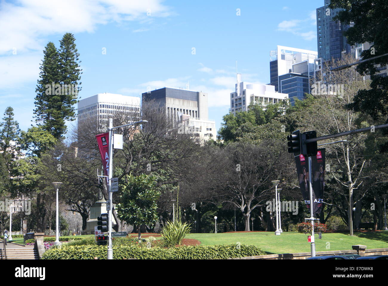hyde park in sydney central business district,australia - Stock Image