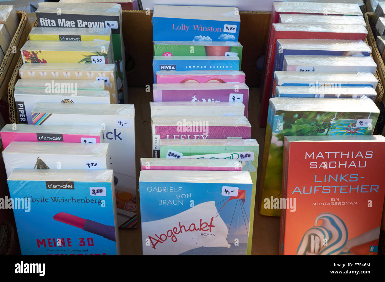Secondhand books for sale, Leichlingen, Germany. - Stock Image