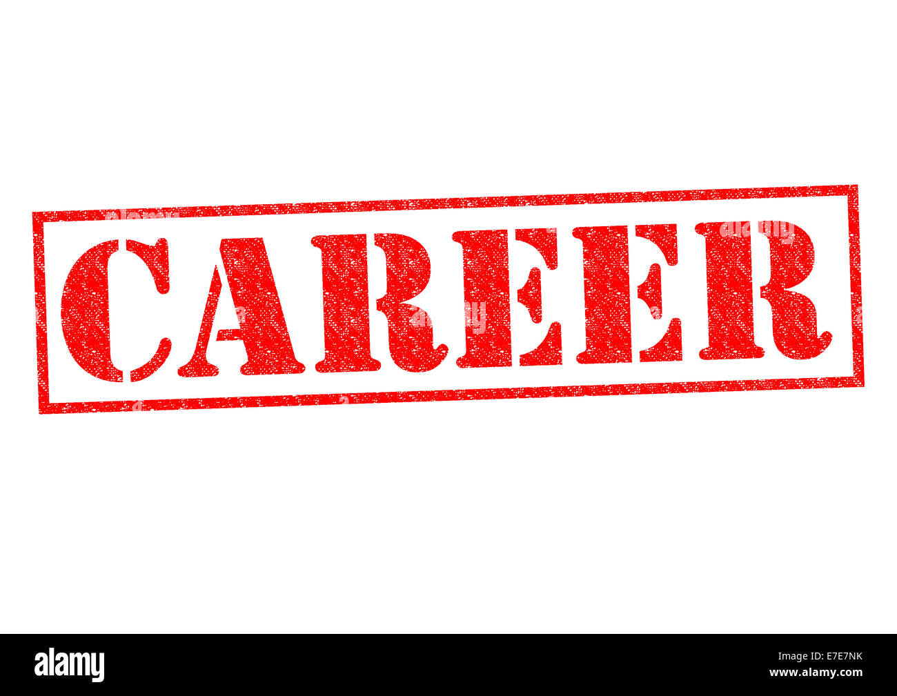 CAREER red Rubber Stamp over a white background. - Stock Image