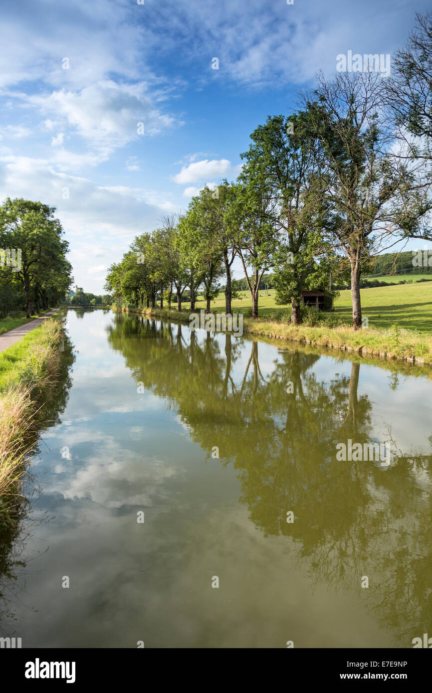 Champagne and Bourgogne Canal France - Stock Image