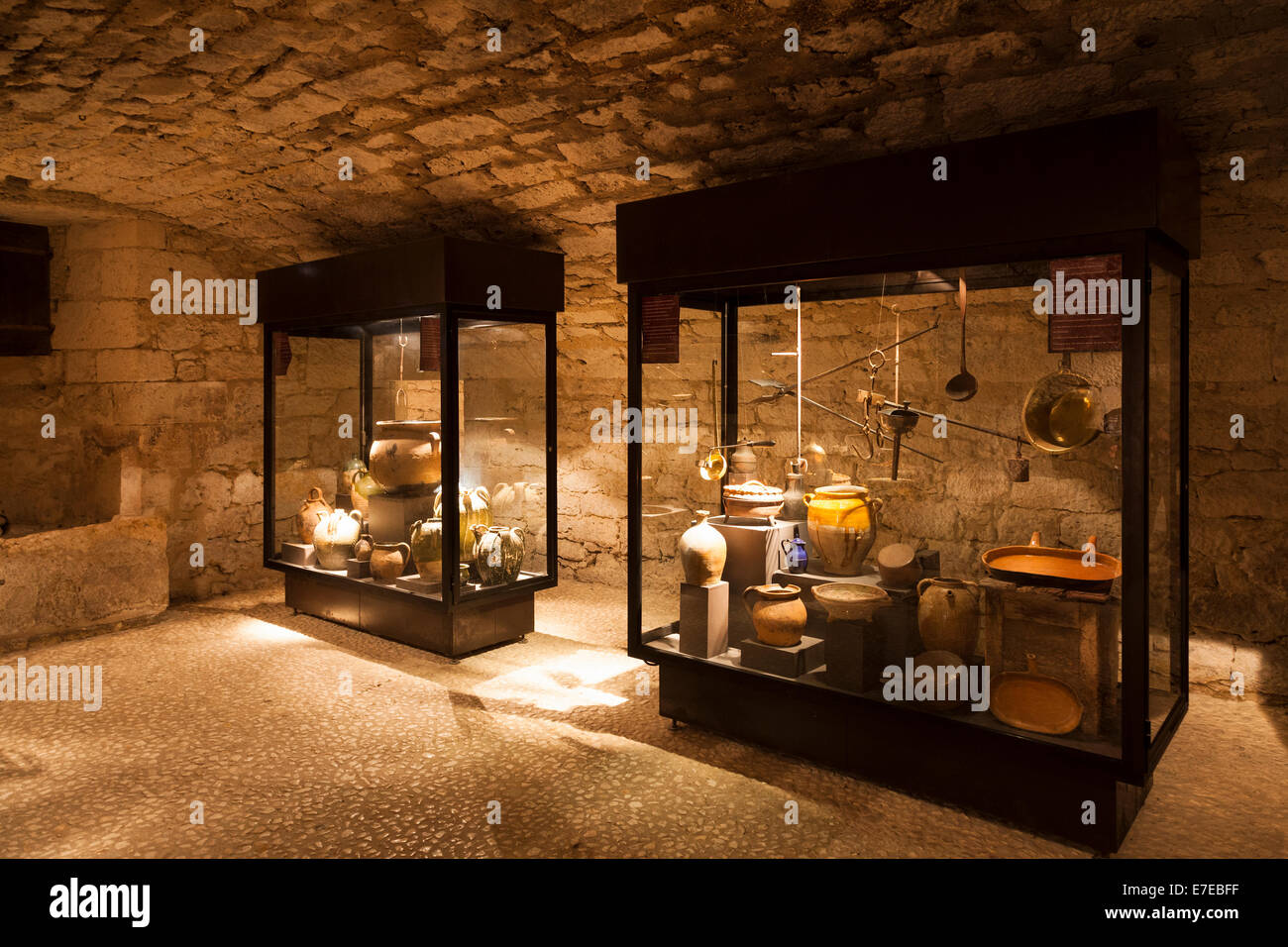 The kitchens in the Chateau de Monbazillac France - Stock Image