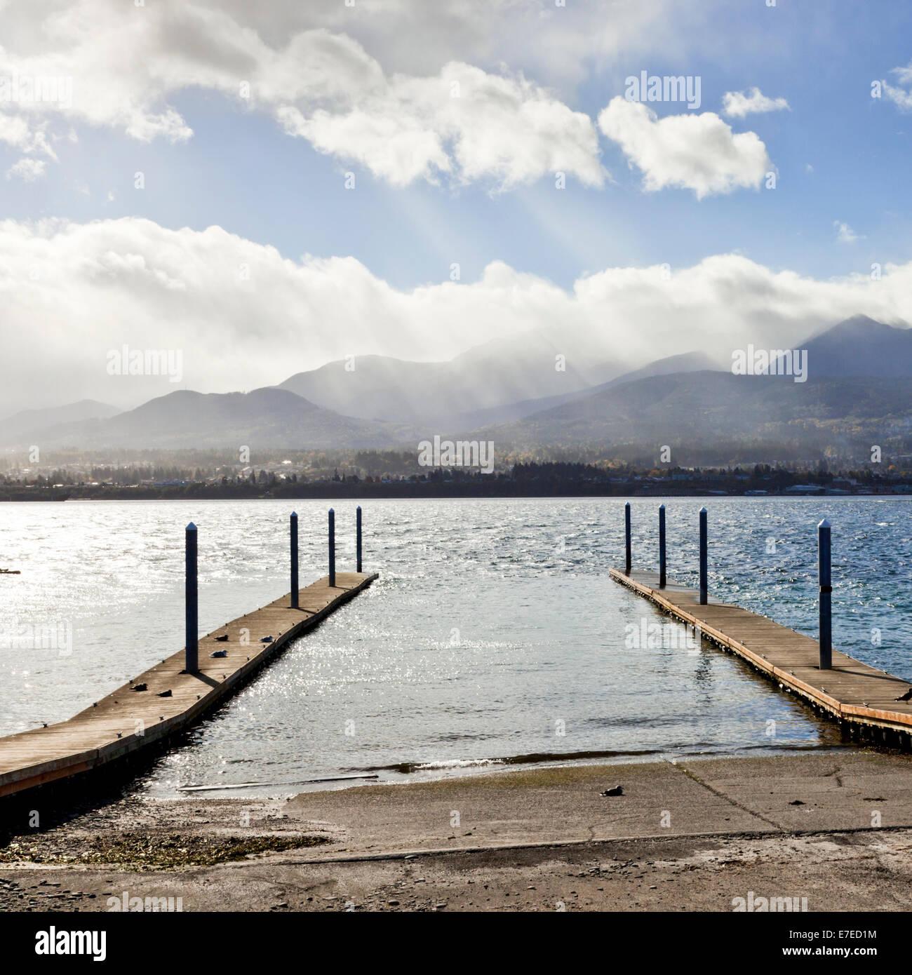 Jetty Ediz Hook Port Angeles  Washington - Stock Image