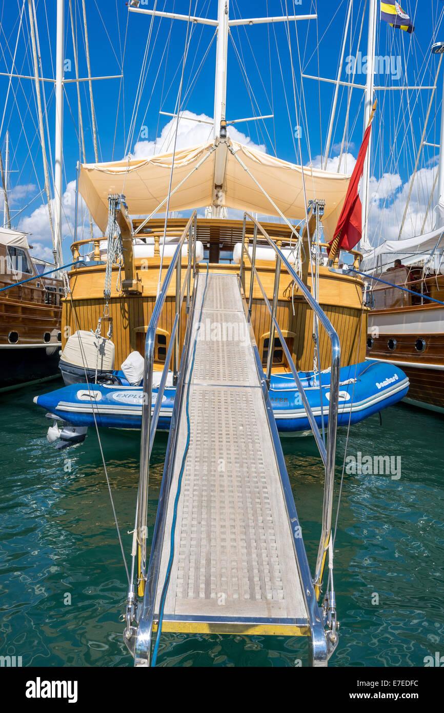 Cruising boat Bodrum Turkey - Stock Image