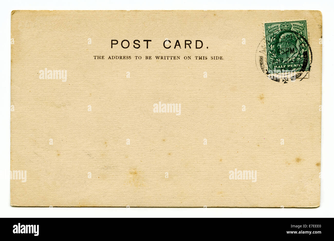 a vintage postcard over a plain white background stock image