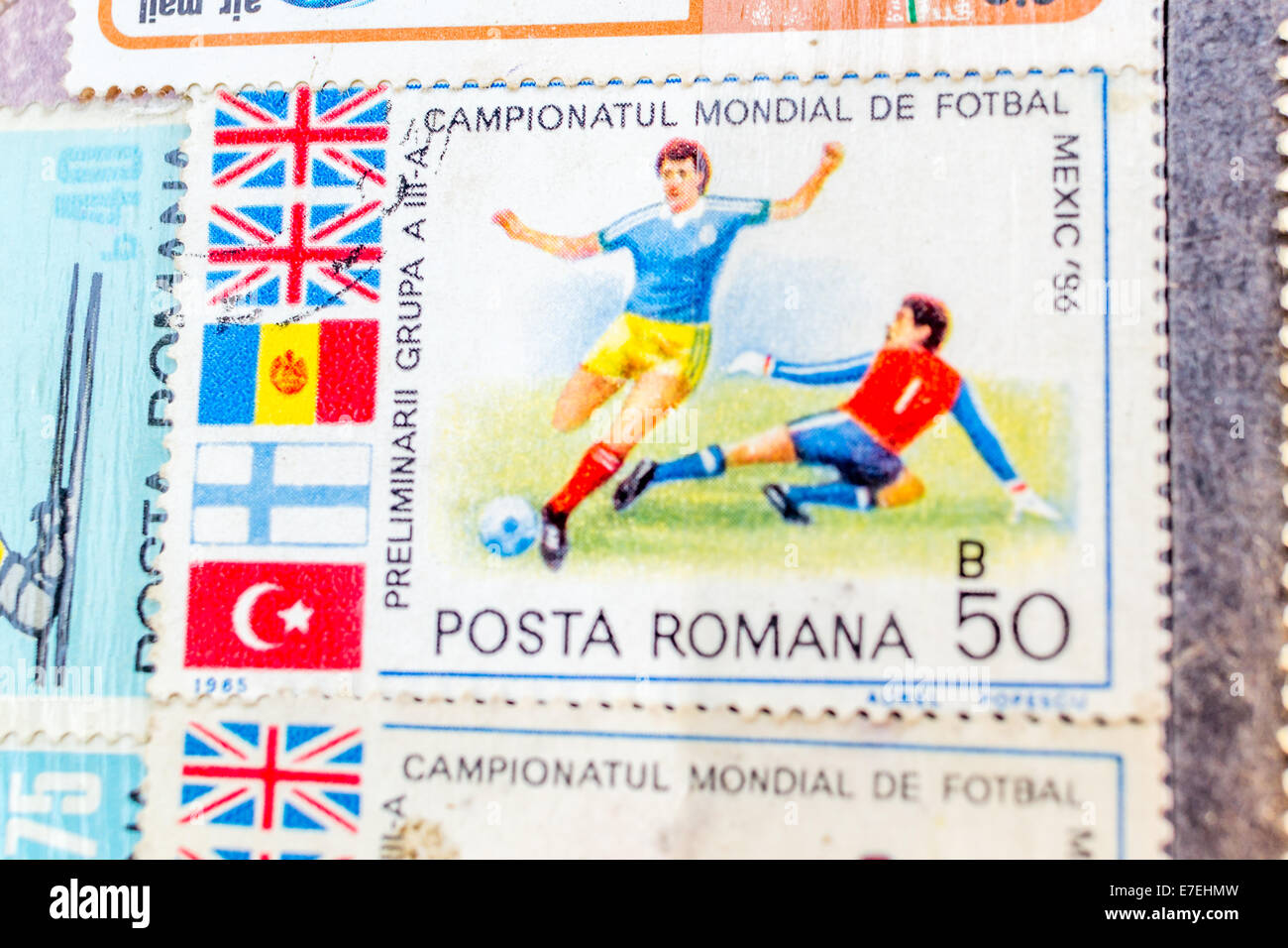Stamp collection - Stock Image