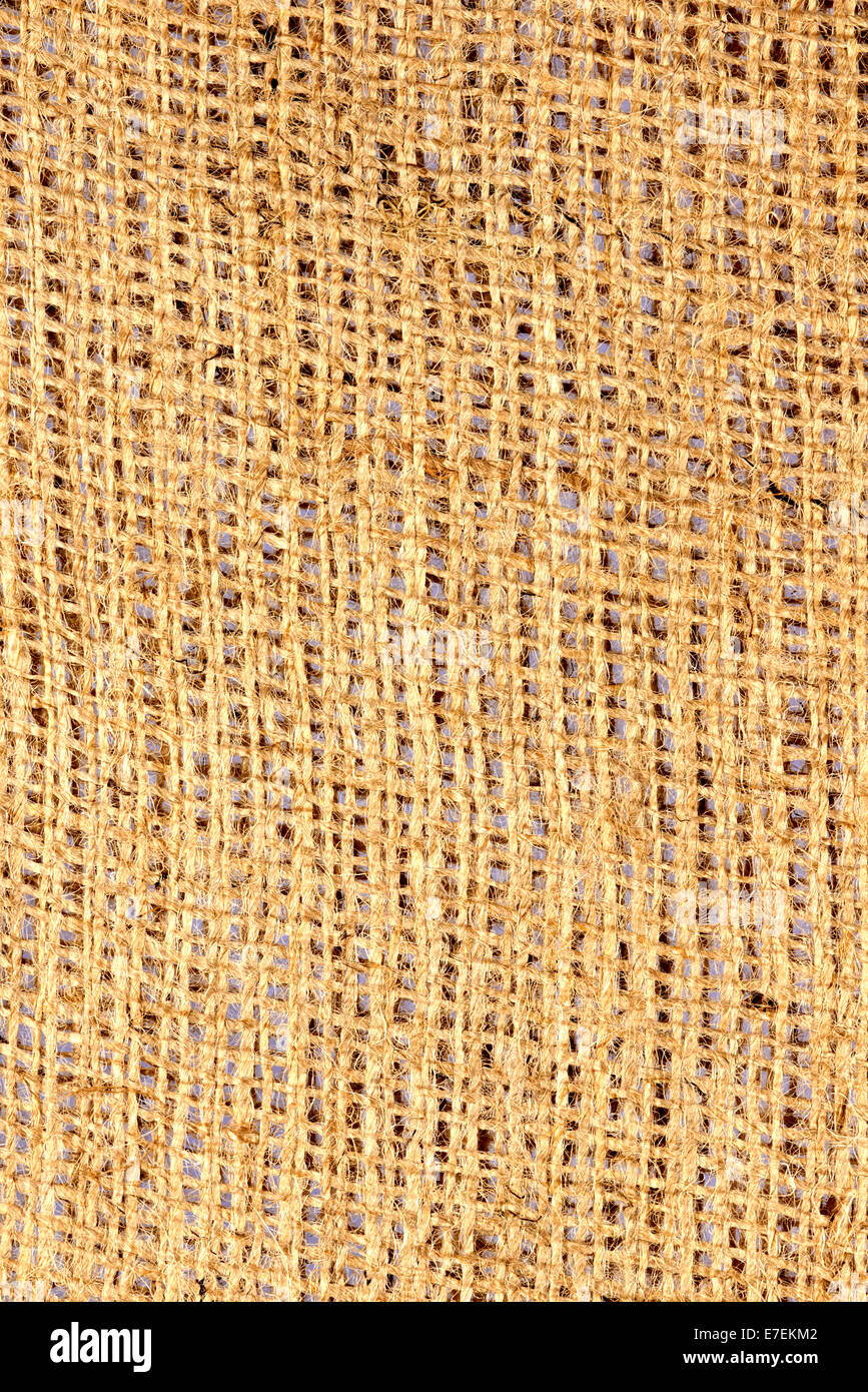 Hessian Cloth Sack Detail - Stock Image