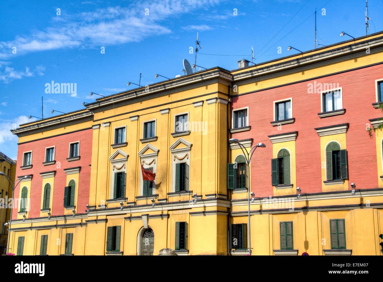 Tirana facade - Stock Image