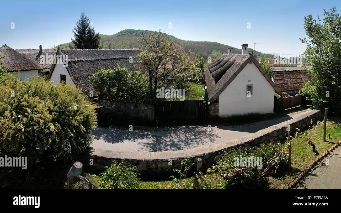 Old farmhouses in Szigliget,  Lake Balaton, Hungary - Stock Image