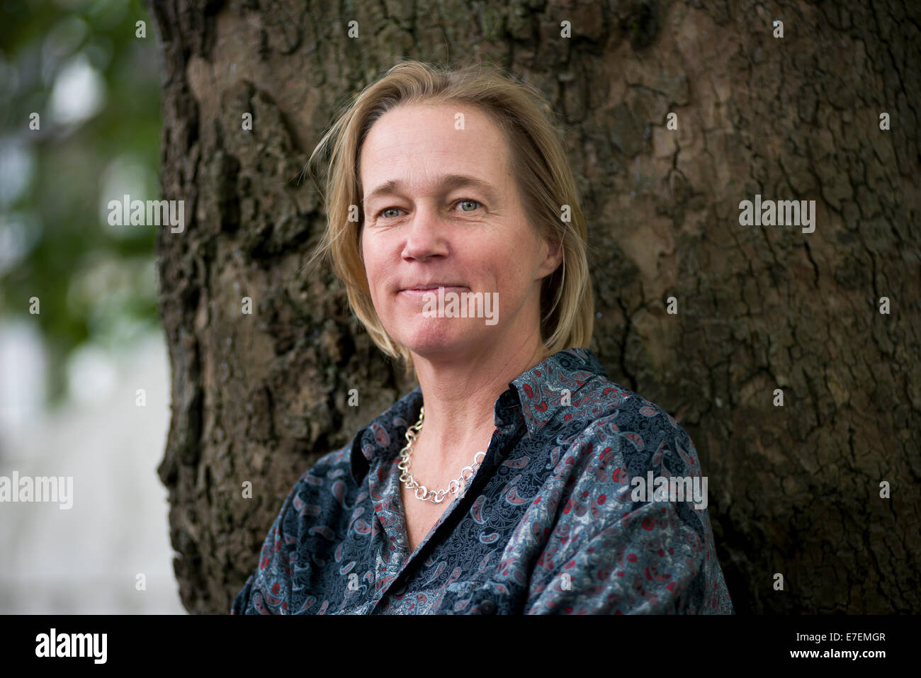 Author Alice Greenway appears at the Edinburgh International Book Festival. - Stock Image