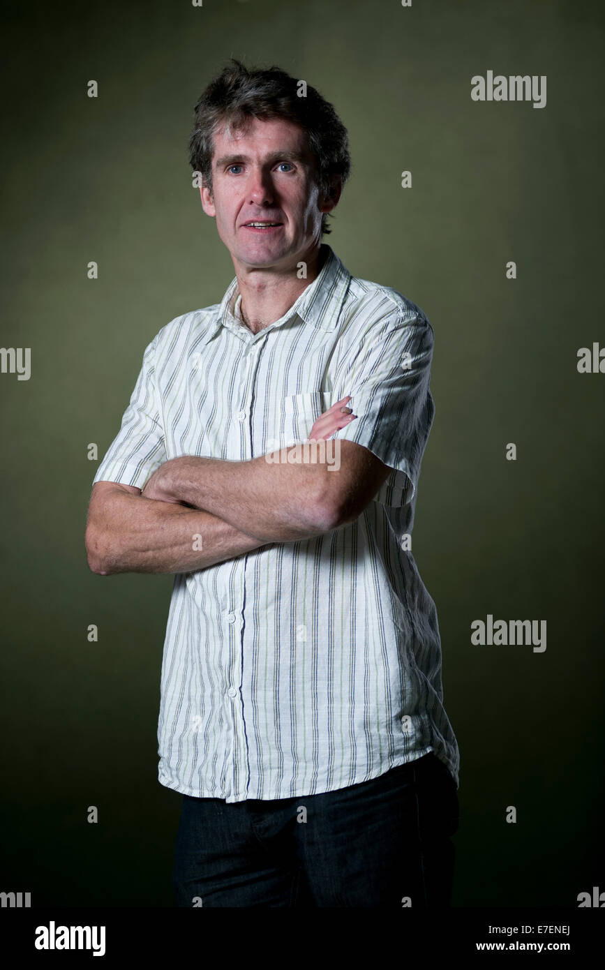Author Mike Cawthorne appears at the Edinburgh International Book Festival. - Stock Image