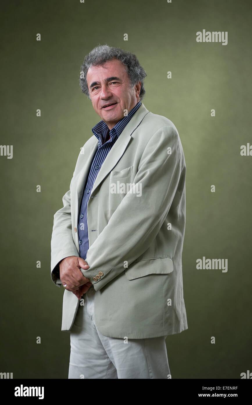 Author Philip Davis appears at the Edinburgh International Book Festival. - Stock Image