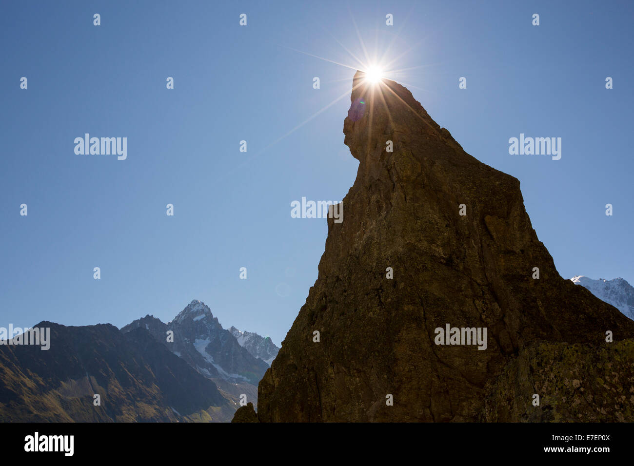 A pinnalce on he Aiguille Rouge range, French Alps. - Stock Image