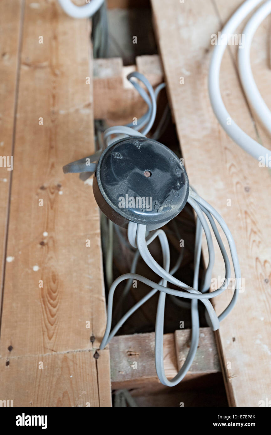 home wiring junction box 70s wiring electrical stock photos home rh alamy com