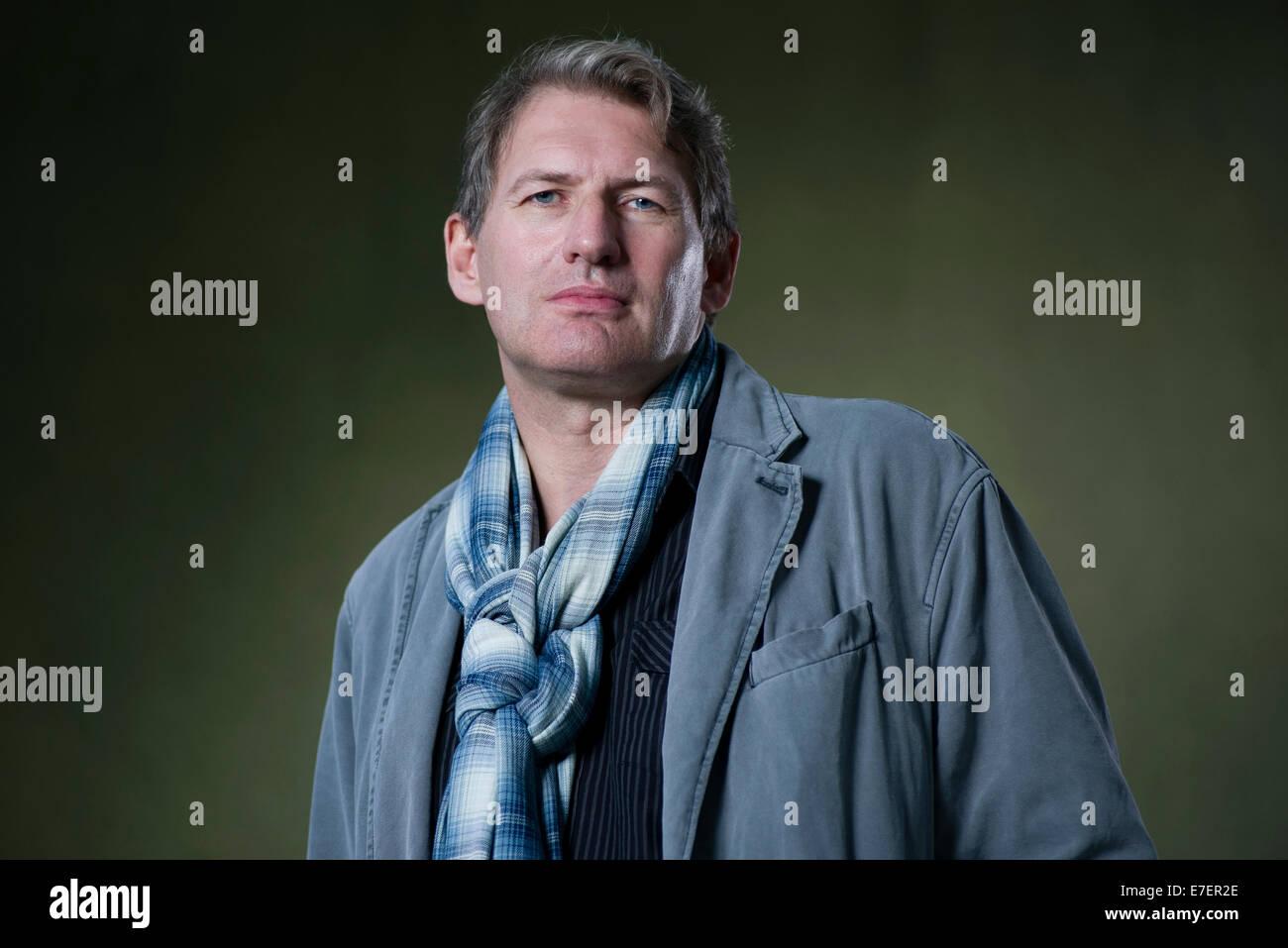 Scottish novelist Alan Warner appears at the Edinburgh International Book Festival. - Stock Image