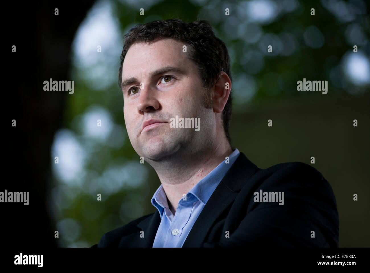 Author Mason Cross appears at the Edinburgh International Book Festival. - Stock Image