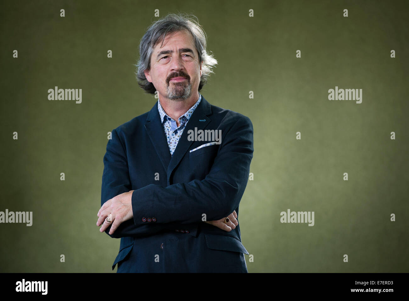 Irish playwright, novelist and poet Sebastian Barry appears at the Edinburgh International Book Festival. - Stock Image