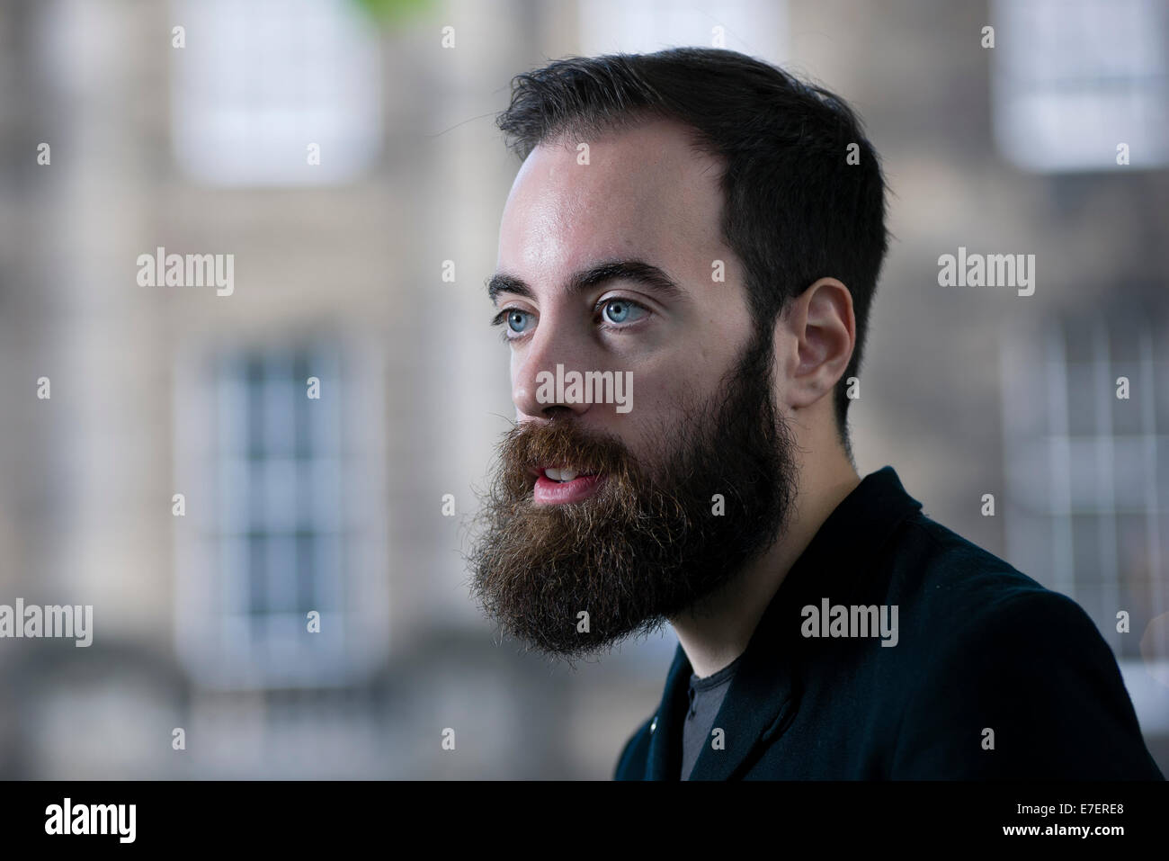 British novelist and journalist Ned Beauman appears at the Edinburgh International Book Festival. - Stock Image