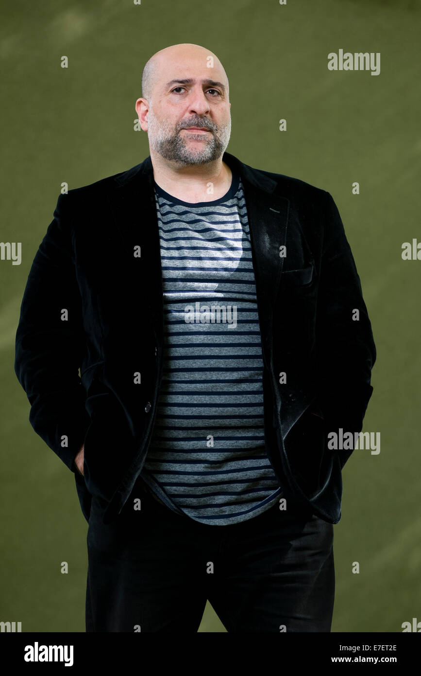 British stand-up comedian, actor, television producer and writer Omid Djalili appears at the Edinburgh Book Festival. - Stock Image