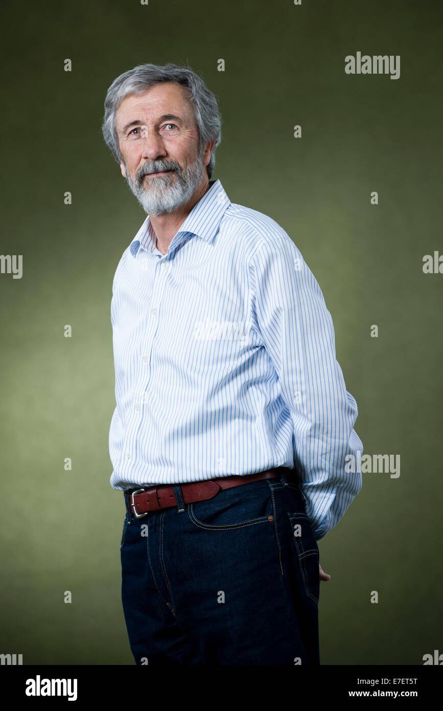 Author Douglas Newton appears at the Edinburgh International Book Festival. - Stock Image