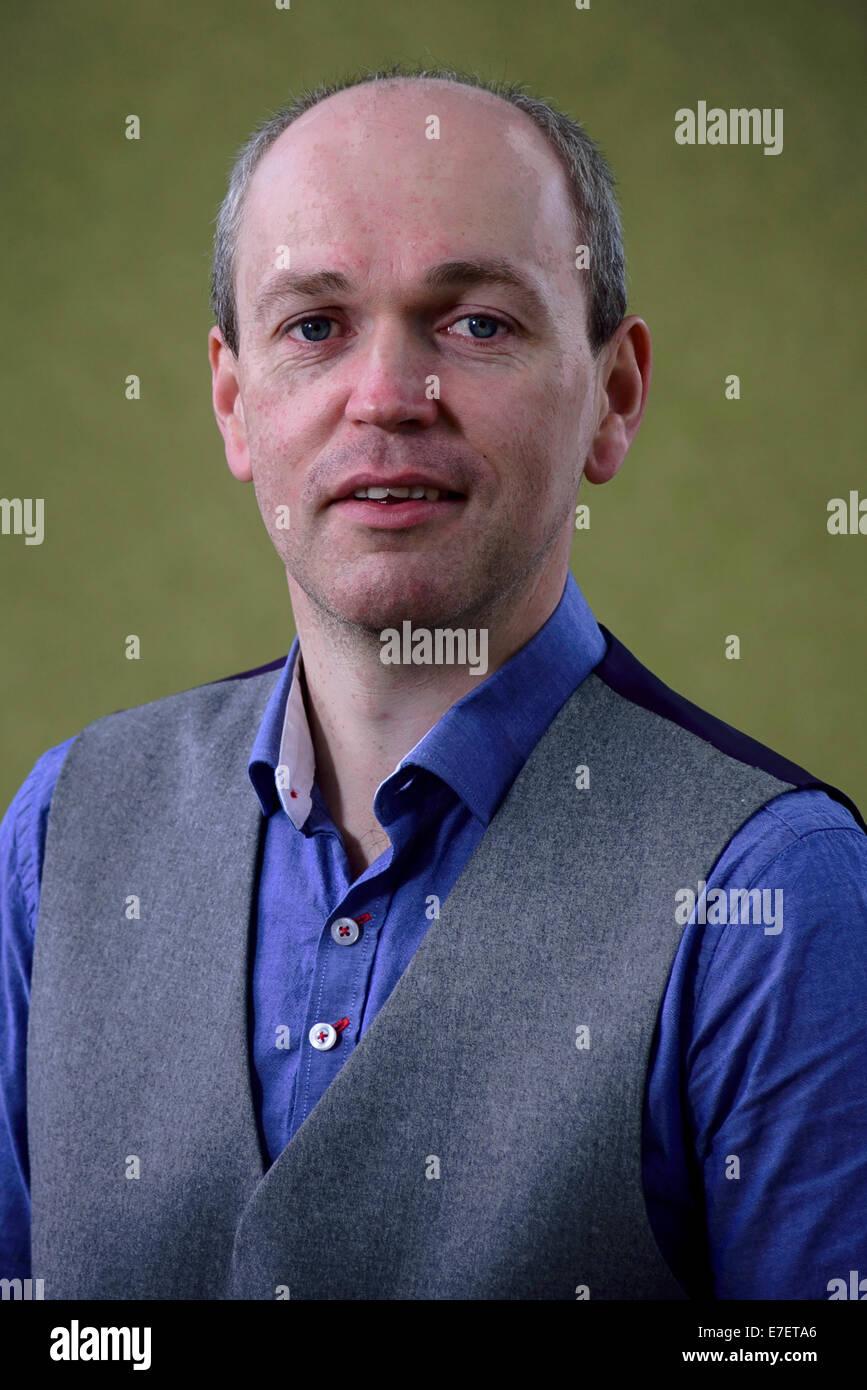 Gaelic writer Gilbert MacMillan appears at the Edinburgh International Book Festival. - Stock Image