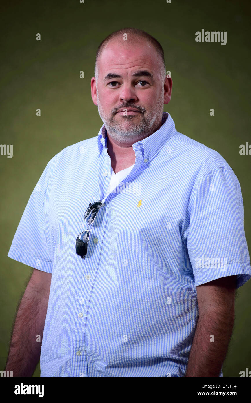 American writer of young-adult fiction Matthew Quick appears at the Edinburgh International Book Festival. - Stock Image