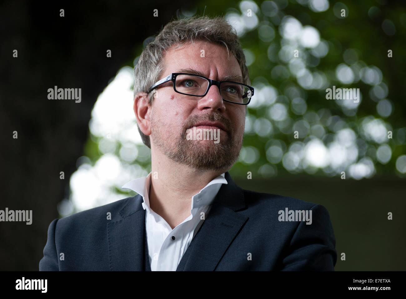 Photographer Martin Gray appears at the Edinburgh International Book Festival. - Stock Image