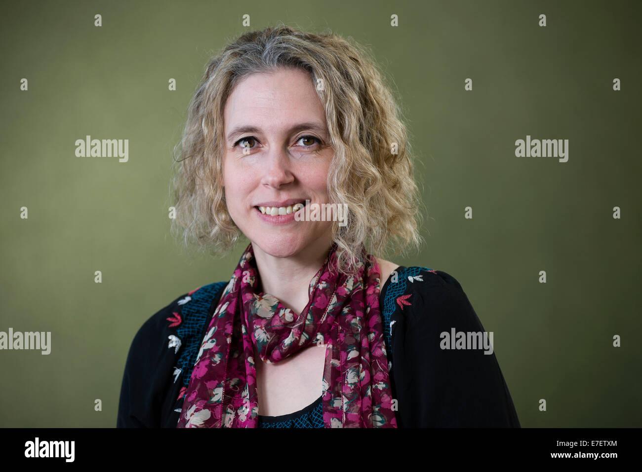 Author Rebecca Mascull appears at the Edinburgh International Book Festival. - Stock Image
