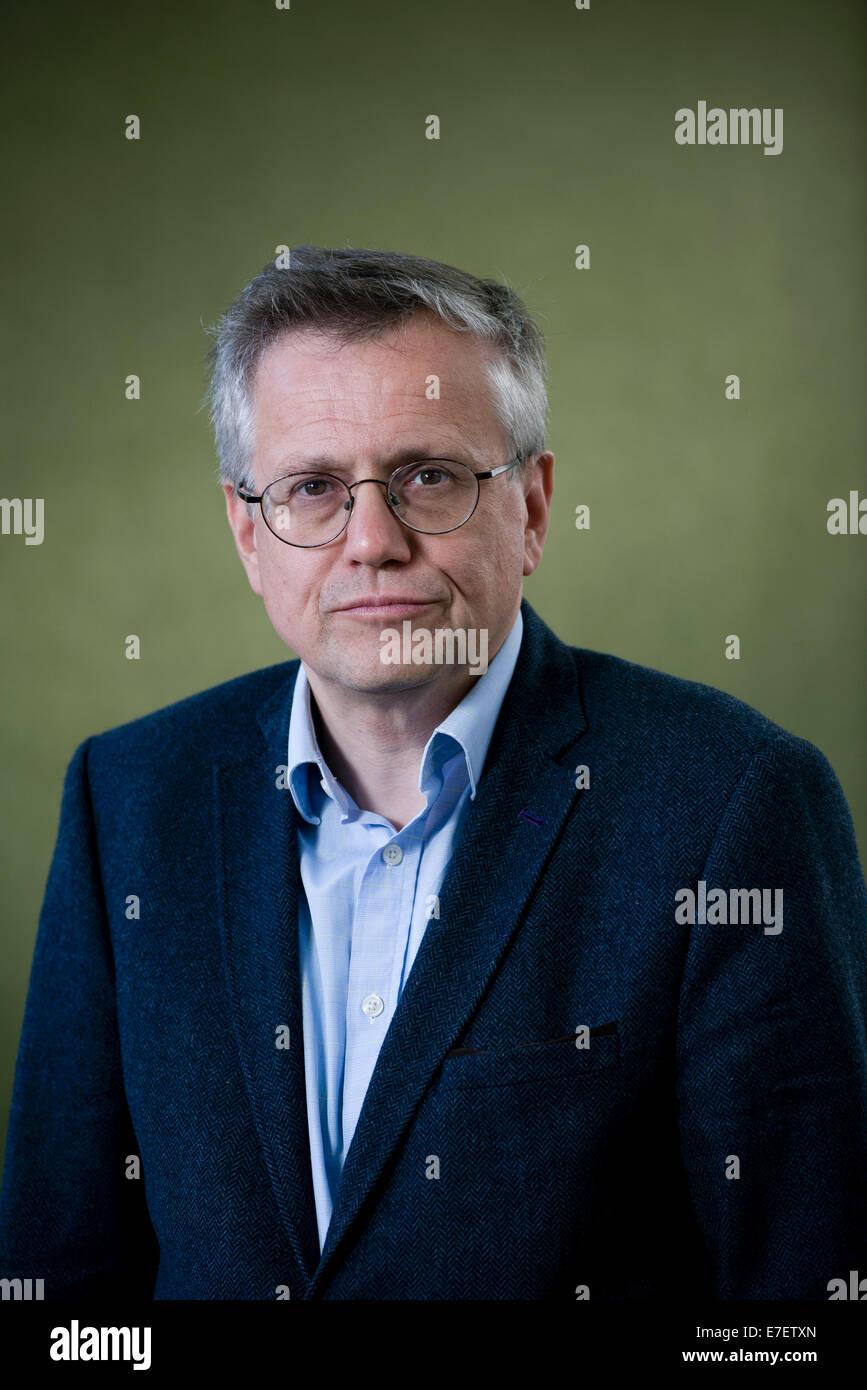 Scottish cultural historian, Bradley Professor of Literature Murray Pittock FRSE at the Edinburgh Book Festival. - Stock Image