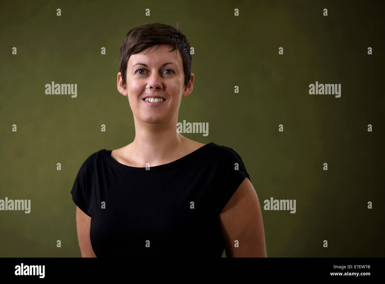 Historian and author Angela Bartie appears at the Edinburgh International Book Festival. - Stock Image