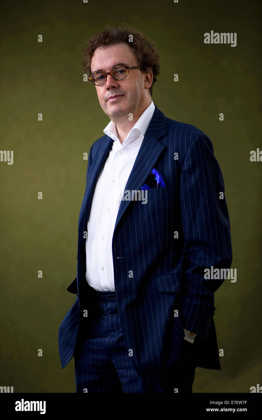 Composer and festival director Jonathan Mills appears at the Edinburgh International Book Festival. Stock Photo