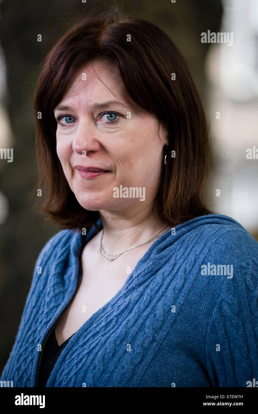 Author Sophie Mackenzie appears at the Edinburgh International Book Festival. - Stock Image