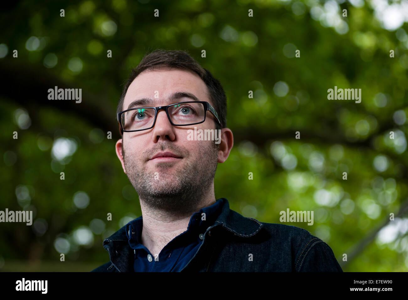 Comic artist and illustrator Adam Murphy appears at the Edinburgh International Book Festival. - Stock Image