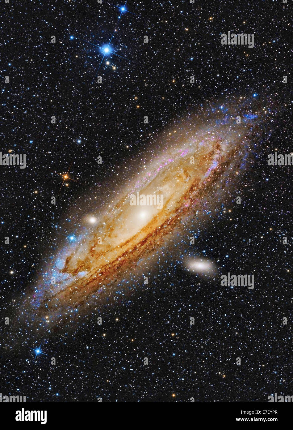 Messier 31, the Andromeda Galaxy. - Stock Image